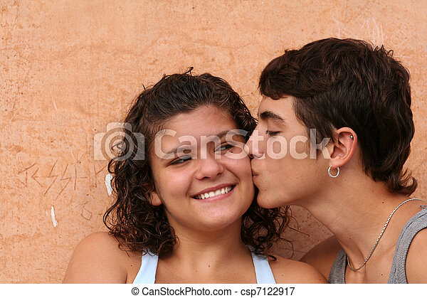 happy spanish or hispanic couple - csp7122917
