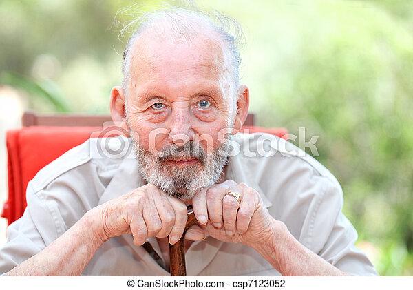healthy happy old age senior man - csp7123052