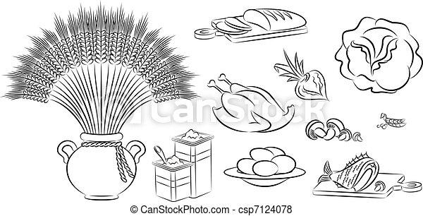 Healthy meal ingredients - csp7124078