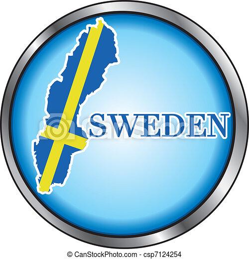 Sweden Round Button - csp7124254