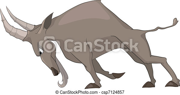 Cartoon Character Goat - csp7124857