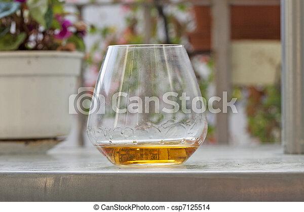 Glass of liquor - csp7125514