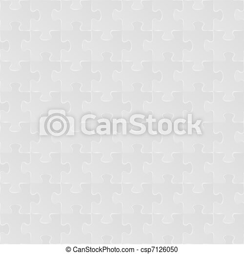 Abstract vector grey seamless puzzle background  - csp7126050
