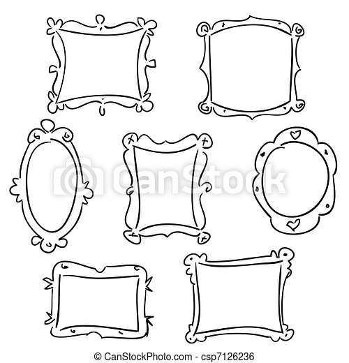 Hand drawn frames - csp7126236