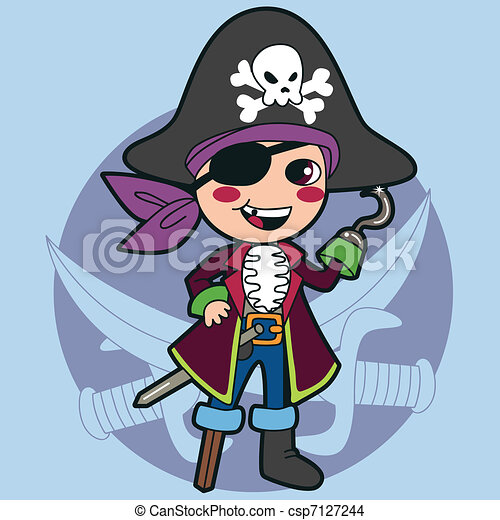 Pirate Boy Costume - csp7127244