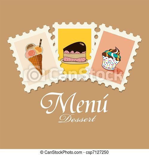 Dessert menu - csp7127250