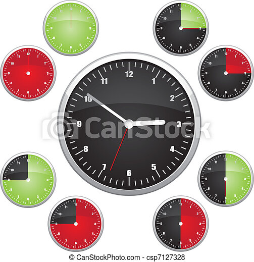 Clock illustration - csp7127328