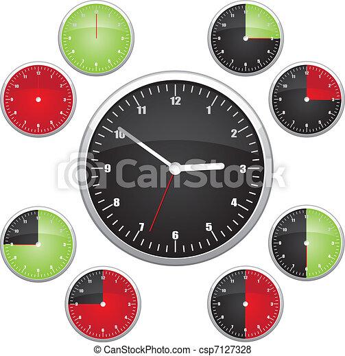 Clock illustration - csp7127328