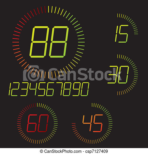 Digital timer illustration - csp7127409