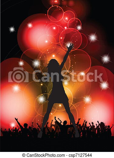 female singer performing  - csp7127544