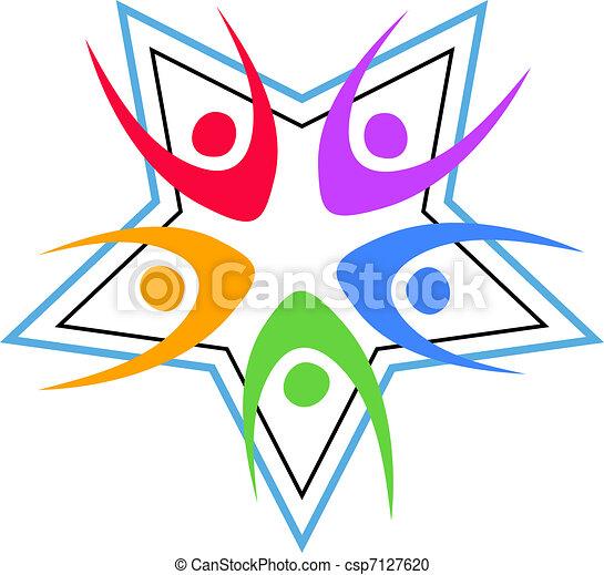 Team Work Stars - csp7127620