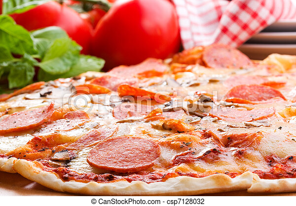 Pepperoni pizza - csp7128032