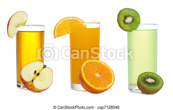 set with fresh juice with fruits  - csp7128046