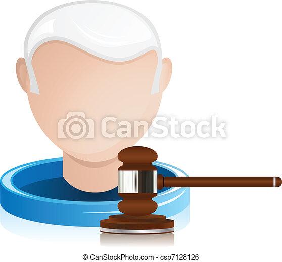 Senior Judge with Justice Gavel - csp7128126