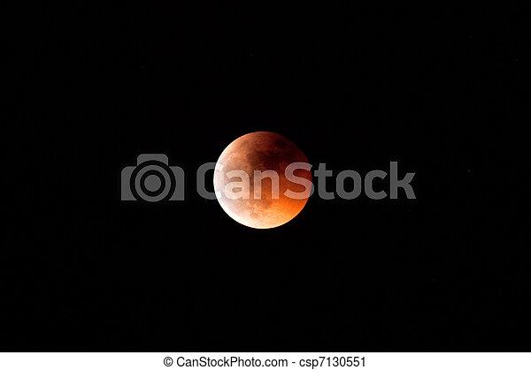Beautiful red moon