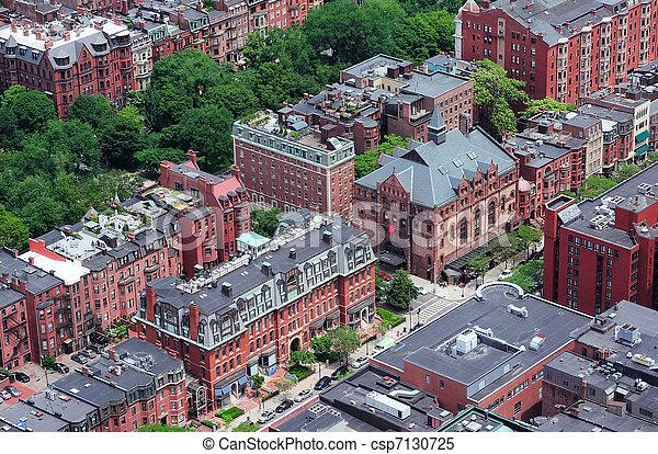 Boston Street aerial view - csp7130725