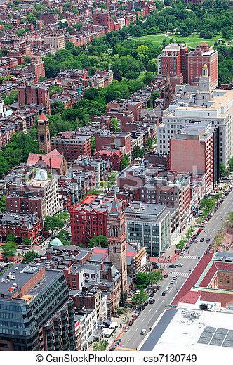 Boston aerial view - csp7130749