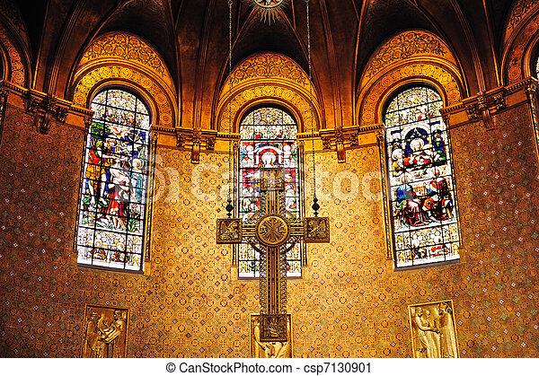 Cross in Boston Trinity Church - csp7130901