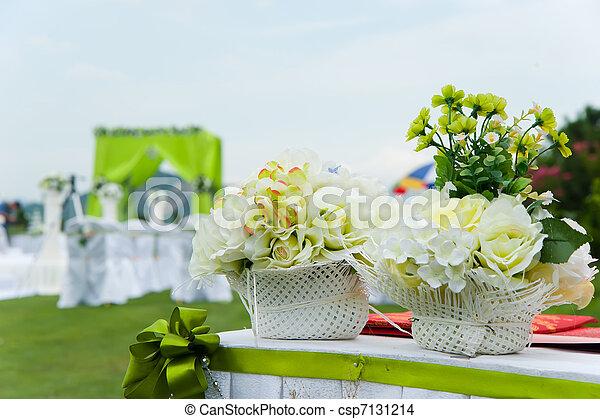 Wedding reception overview  - csp7131214