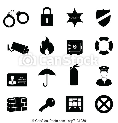 Drawing on Safety And Security Security And Safety Icon Set