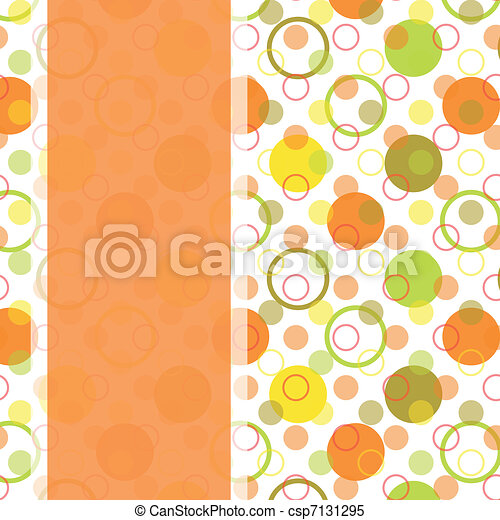 card design with colorful polka dot - csp7131295