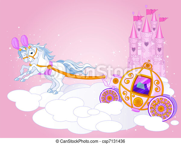 Sky carriage illustration - csp7131436
