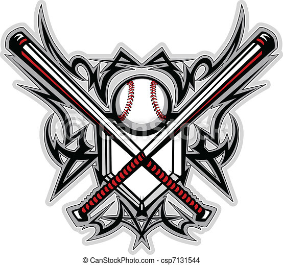 Baseball Softball Bats Tribal Graph - csp7131544