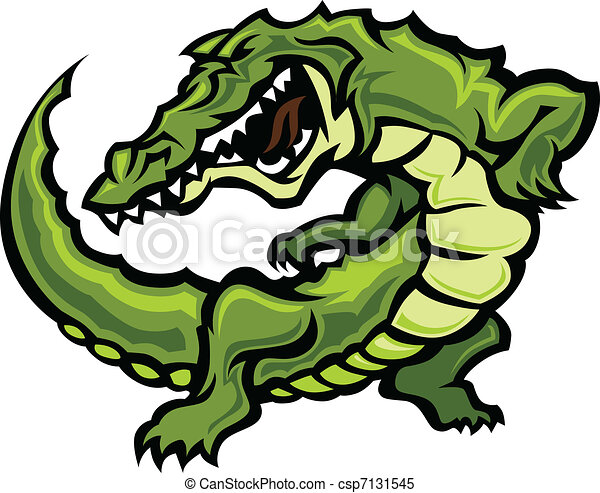 Gator or Alligator Mascot Body Vect - csp7131545