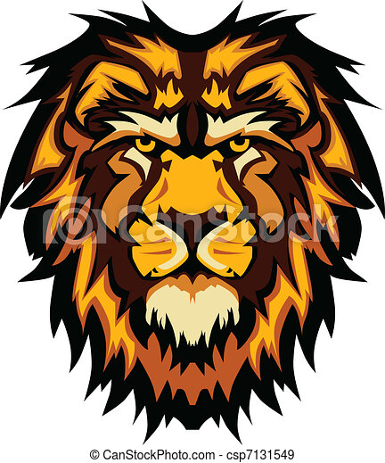 Lion Head Graphic Mascot Vector Ima - csp7131549