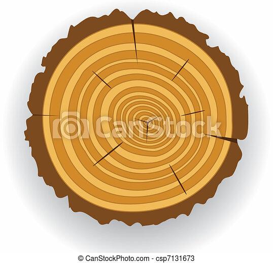 wooden cut  - csp7131673