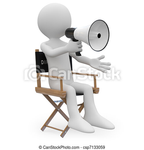 Film director sitting in a chair - csp7133059