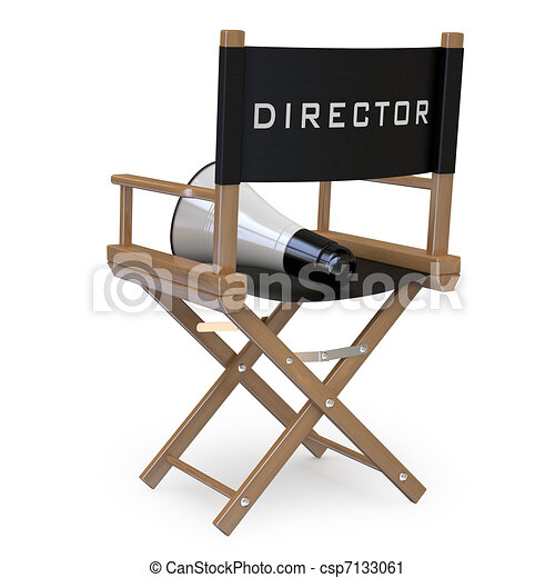Film director's chair - csp7133061