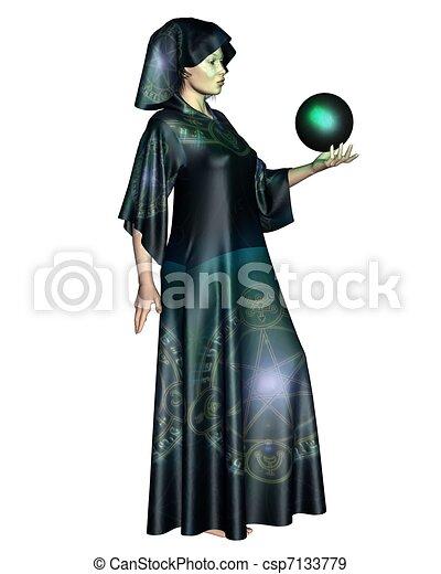 Female Mystic - csp7133779