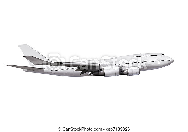 commercial airplane with path - csp7133826
