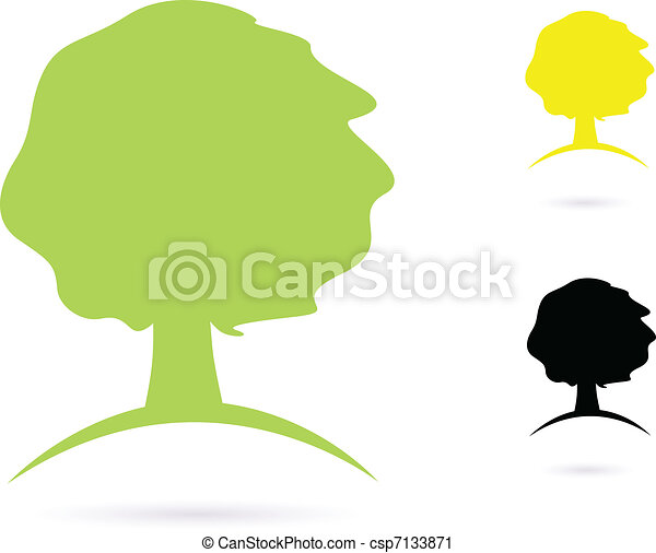 Simple old Tree Abstract vector icon set - csp7133871