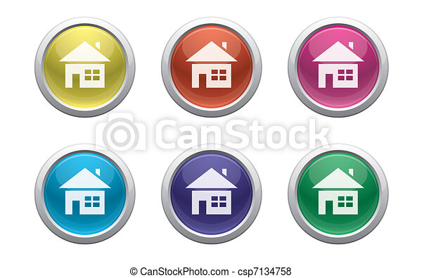plastic home buttons - csp7134758