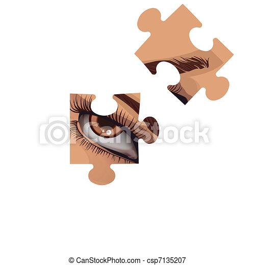 Puzzle fragments - csp7135207