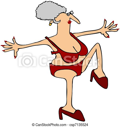 High Stepping Grandma - csp7135524