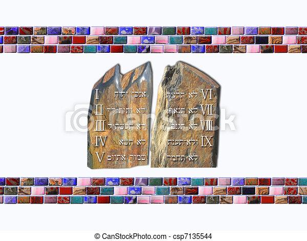 Ten Commandments - csp7135544