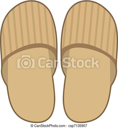 Vectors Illustration Of Slippers Vector Illustration