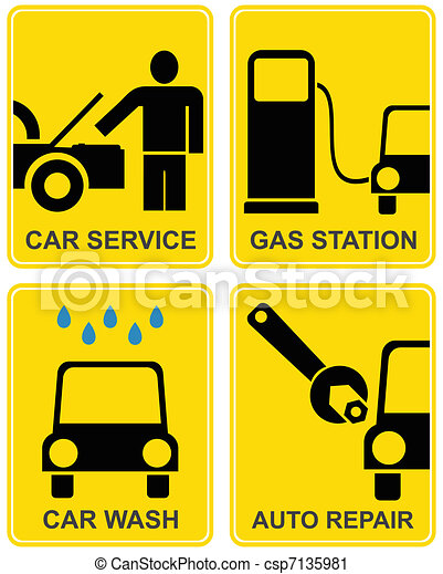 Car service, fuel station, auto repair - csp7135981