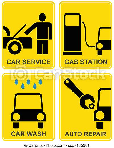 Car service, fuel station, auto repair - csp7135981
