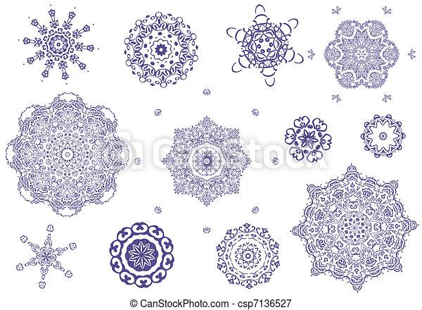arabesque tracery round set - csp7136527