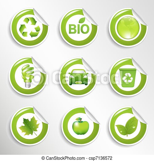 Eco Labels Set - csp7136572