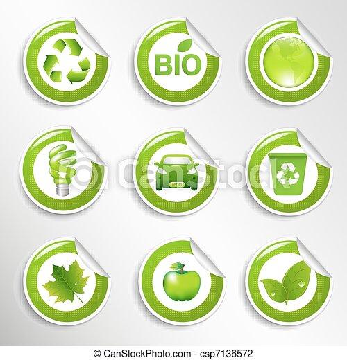 Eco Labels Set - csp7136572
