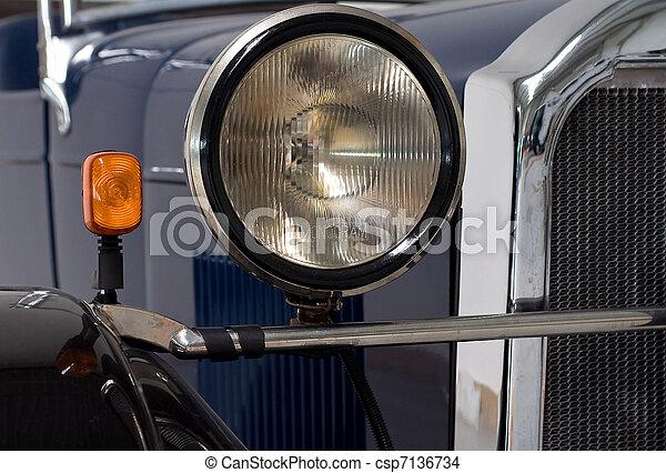 Lights of an oldtimer - csp7136734