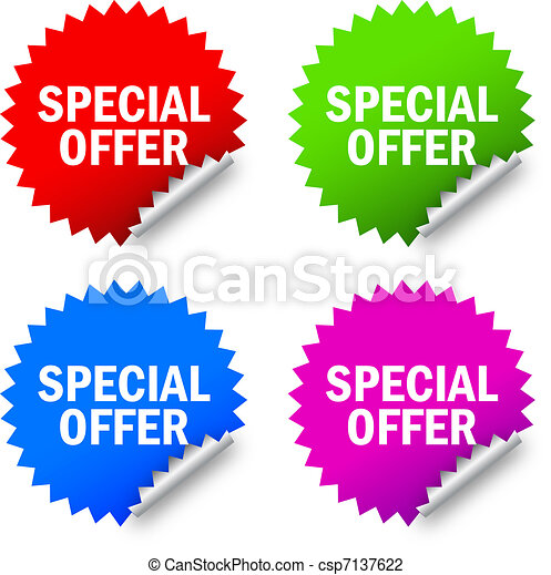 Special offer labels - csp7137622