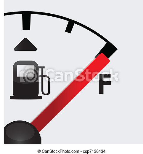 closeup Full gas tank detail - csp7138434