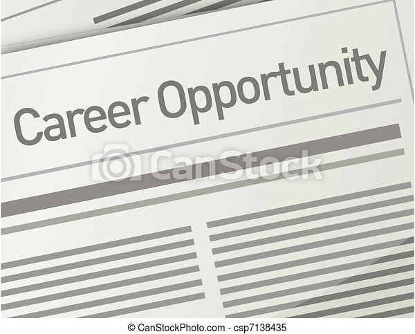 newspaper Career Opportunity ad - csp7138435