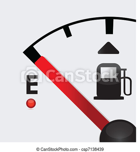 closeup empty Gas Tank Illustration - csp7138439
